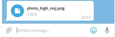 отправка сообщения с файлом в телеграм