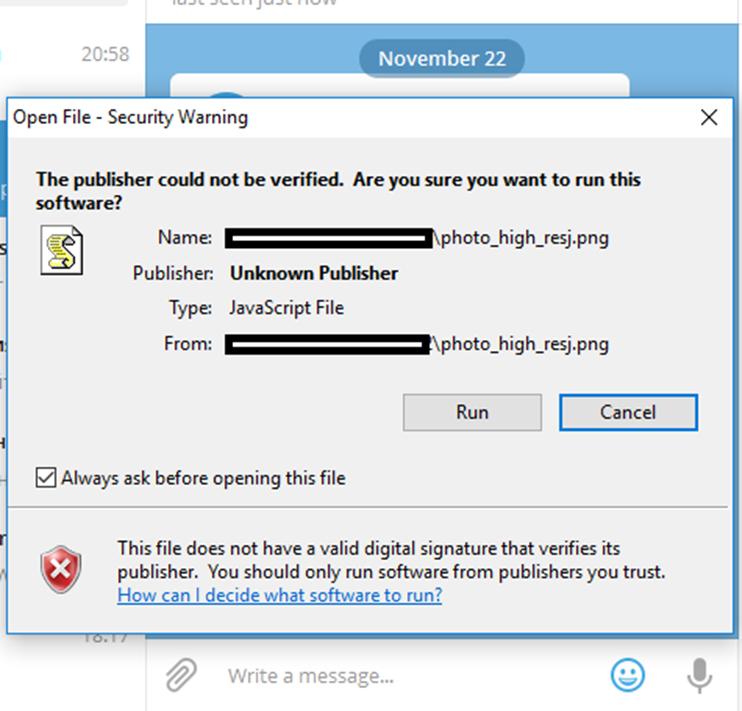 уведомление безопасности Windows