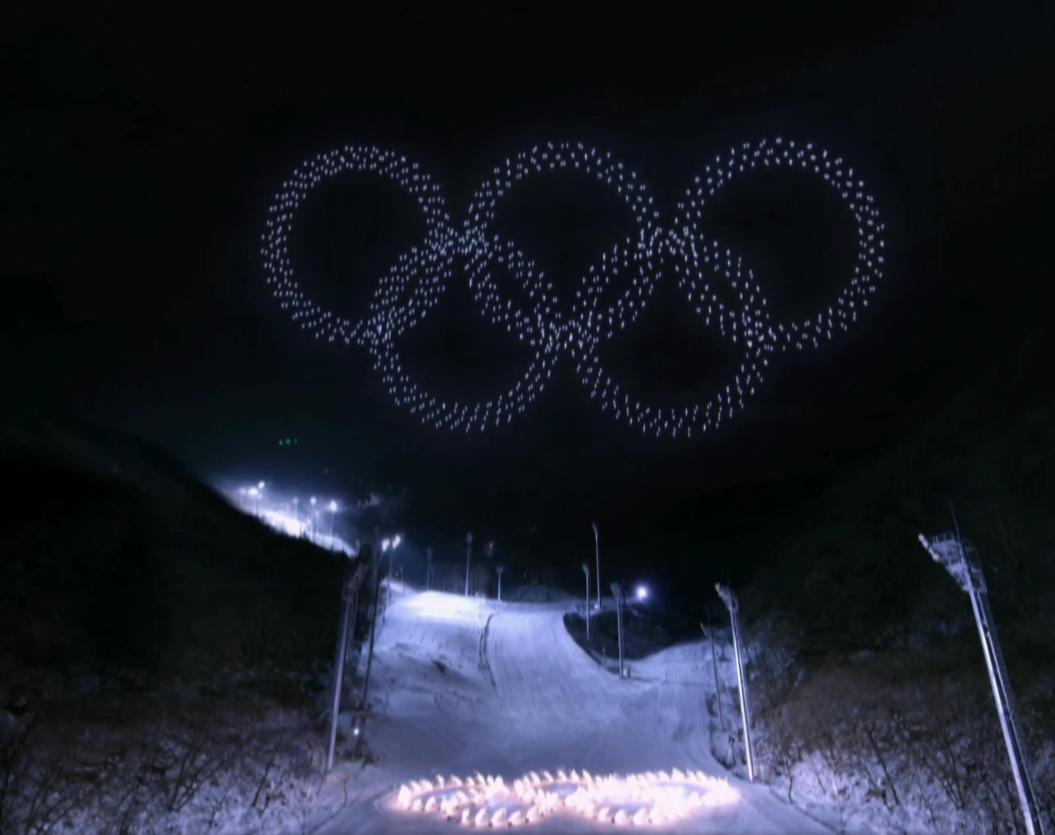 дроны на олимпиаде в Корее