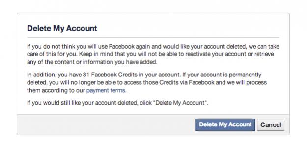 как удалить акаунт на фейсбуке